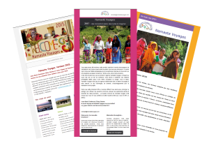 Newsletters pour Namaste Voyages