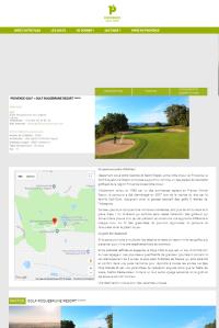 Présentation détaillée de tous les golfs partenaires